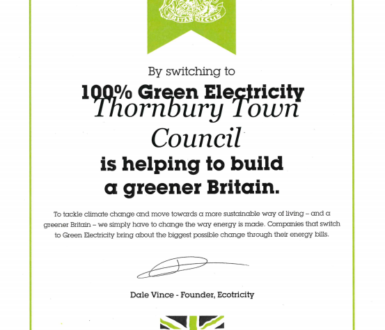 Certificate for Thornbury Town Council