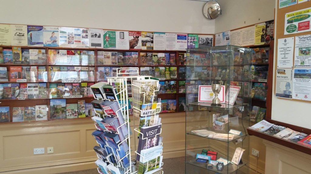 Leaflets in tourist information area