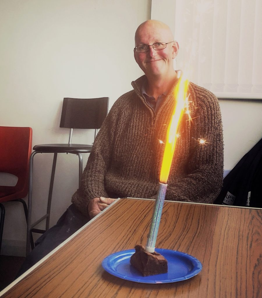 Paul with a candle
